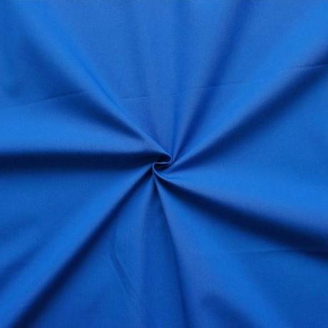 100% Baumwolle Popeline Royal-Blau