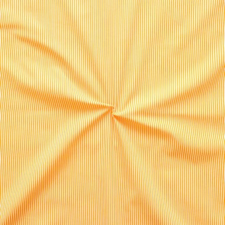 Baumwollstoff Längsstreifen fein Gelb-Weiss