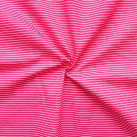Baumwollstoff Ringel klein Rosa Pink