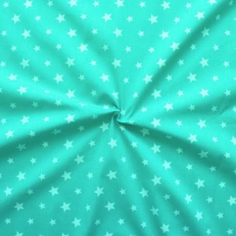 Baumwollstoff Sterne Mix Ozean Blau-Grün