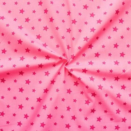Baumwollstoff Sterne Mix Rosa
