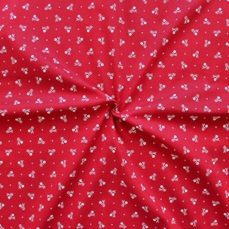 Baumwollstoff Trachten Muster Rot