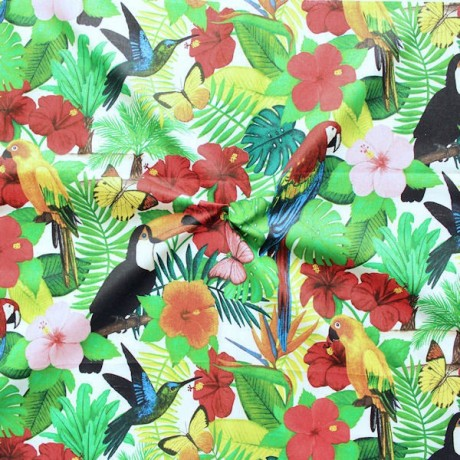 Baumwollstoff Tropenwald Multicolor