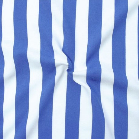 Viskose Javanaise Blue Stripes Blau Weiss