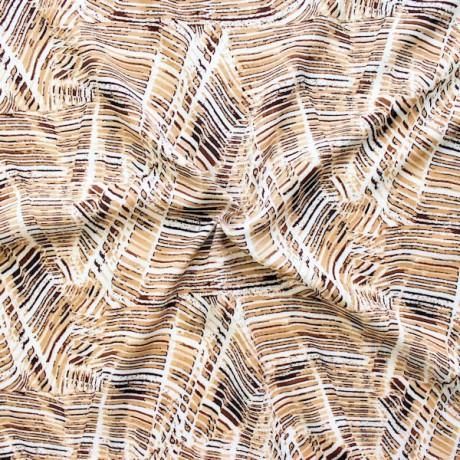 Viskose Javanaise Fashion Print Braun