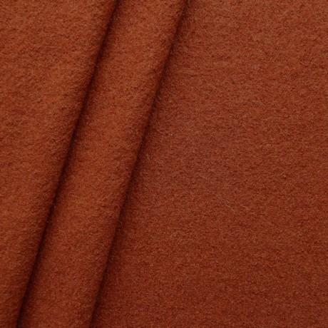 100% Wolle Walkloden Farbe Terrakotta