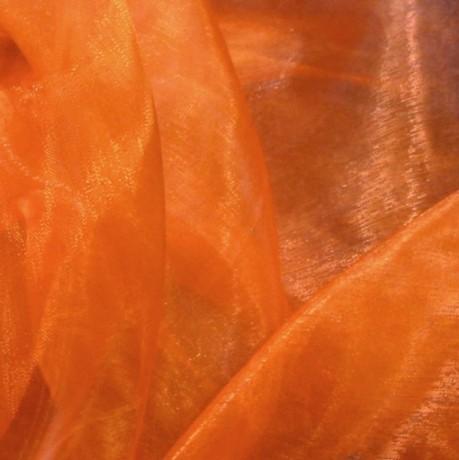 Organza einfarbig Farbe Orange