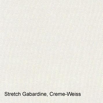 Stretch Gabardine Creme-Weiss