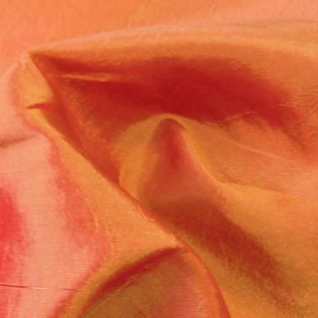 Taft Rot-Orange-Gold changierend