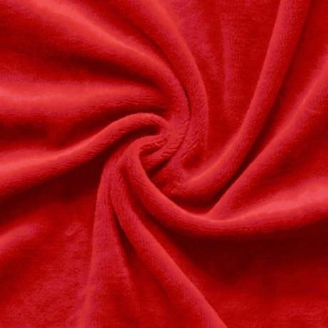 Nicki Baumwollstoff Rot