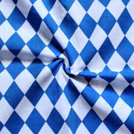 Baumwollstoff Bayern Raute Blau-Weiss