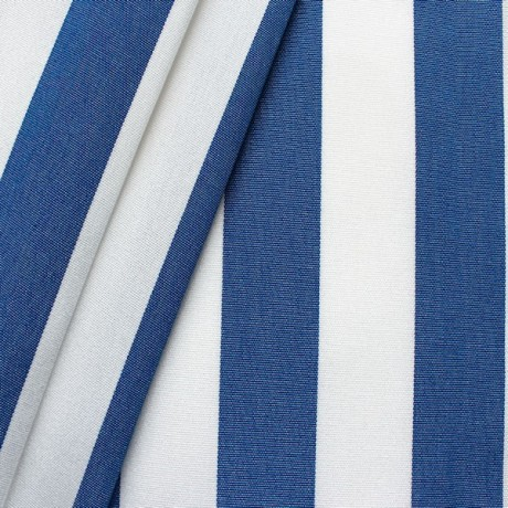 Markisenstoff Streifen Blau-Weiss