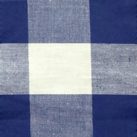 Baumwollstoff Karos Blau-Weiss