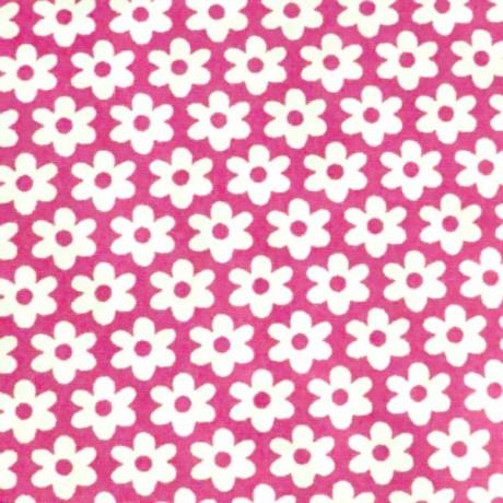 Baumwolle Popeline Blumen Pink