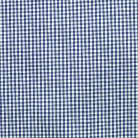 Baumwollstoff Karo Dunkel-Blau Weiss