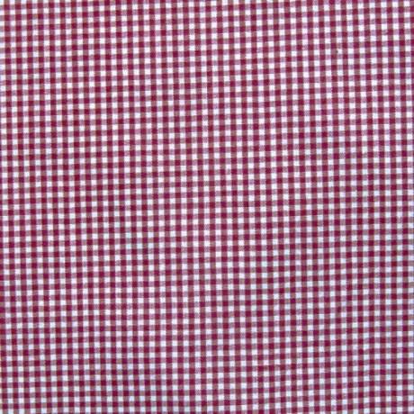 Baumwollstoff Vichy Karo Bordeaux-Weiss