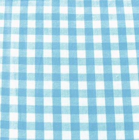 Baumwollstoff Hemden Vichy Karo Türkis-Blau Weiss