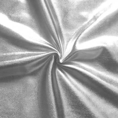 Stretch Folienjersey Silber
