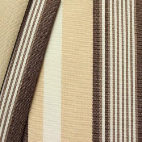 Markisen Outdoorstoff Streifen Braun-Beige-Weiss