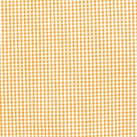 Baumwollstoff Hemden Vichy Karo Orange-Weiss