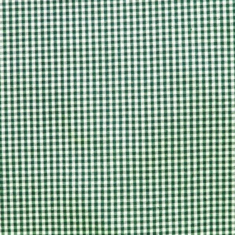 Baumwollstoff Hemden Vichy Karo Dunkel-Grün Weiss