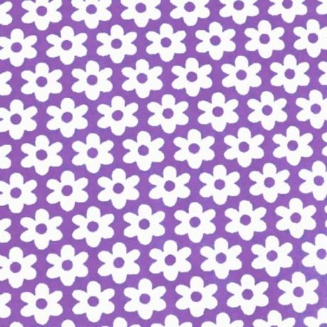 Baumwolle Popeline Blumen Lila