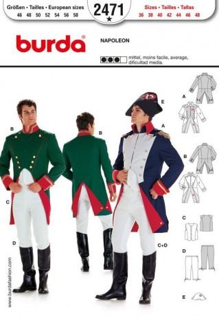 Napoleon, General, Offizier, Soldat, Gr. 46 - 58, Schnittmuster Burda 2471