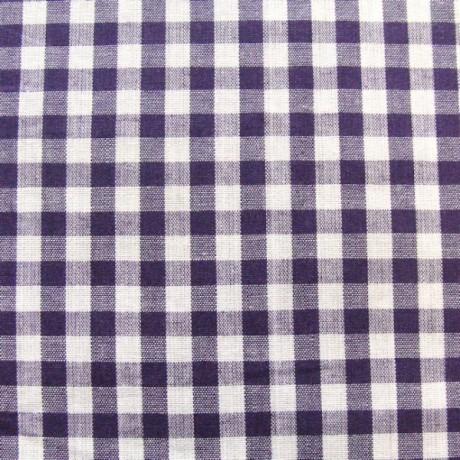 Baumwollstoff Hemden Karo Lila Weiss