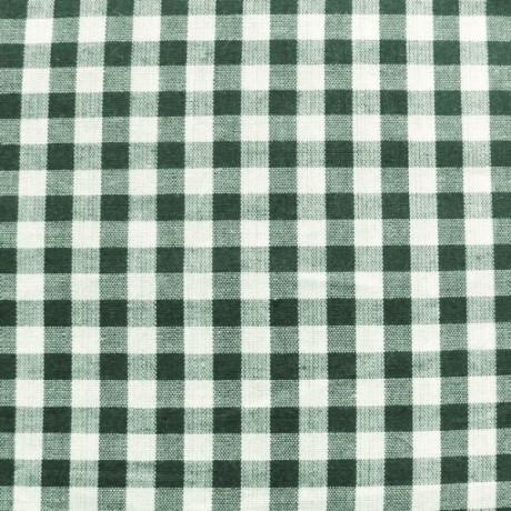 Baumwollstoff Hemden Karo Dunkel-Grün Weiss