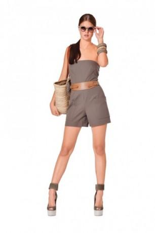 Overall, Kleid – trägerlos, figurbetont, Gr. 32 - 44, Schnittmuster Burda 7233