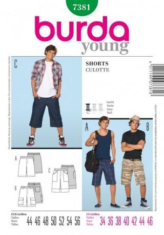 Herren – Shorts, Gr. 44 - 56, Schnittmuster Burda 7381