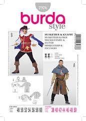 Musketier und Knappe, Gr. 48 - 60, Schnittmuster Burda 7976