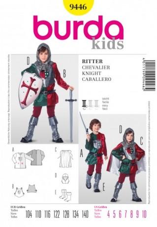 Historisches Kostüm, Ritter Gr. 104 - 140 Schnittmuster Burda 9446