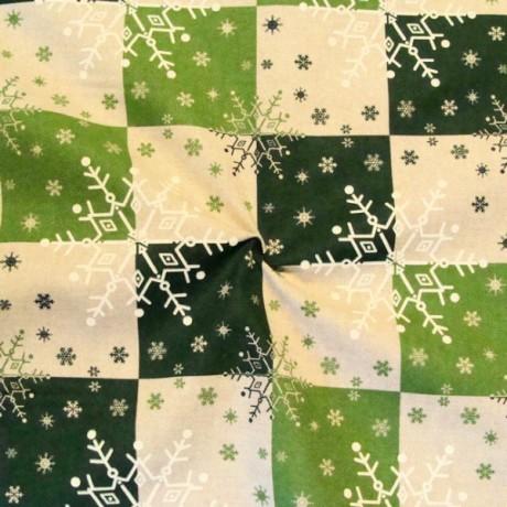 Dekostoff bedruckt Winter Grün