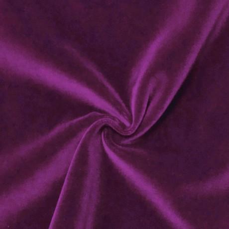 Baumwoll Samt Lila-Violett