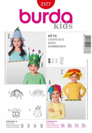 Faschingskappen für Kinder, Schnittmuster Burda 2377