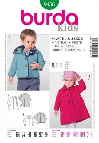 Mantel, Jacke Gr. 68 - 98 Schnittmuster Burda 9456
