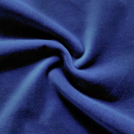 Baumwoll Samt Royal-Blau