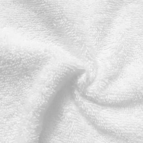Frottee Baumwollstoff Weiss