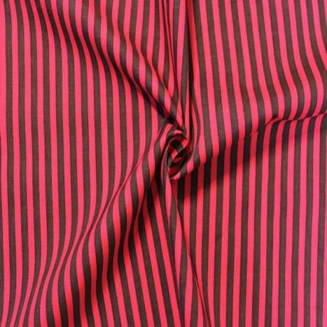Baumwollstoff Streifen Braun-Pink
