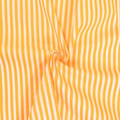 Baumwollstoff Streifen Gelb-Weiss