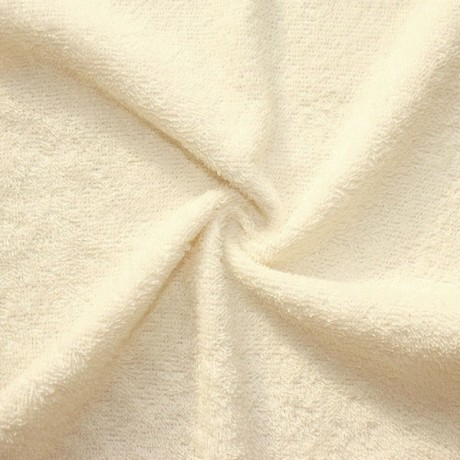 Frottee Baumwollstoff Creme - Weiss