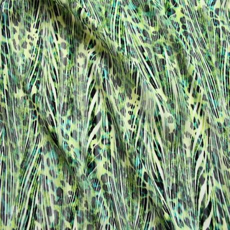 Modestoff bedruckt Tierfell Grün
