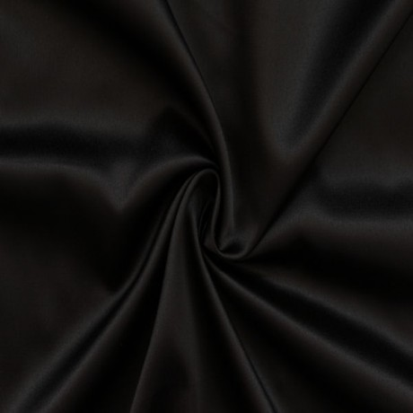 Stretch Satin Schwarz