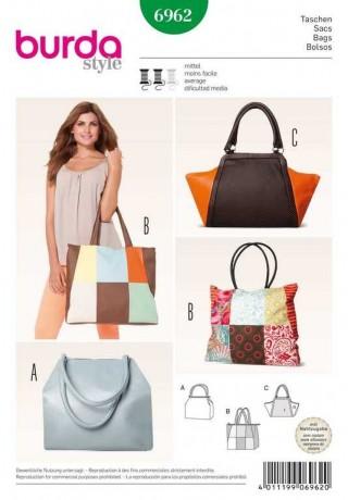 Taschen – Shopper – Patchwork, Schnittmuster Burda 6962