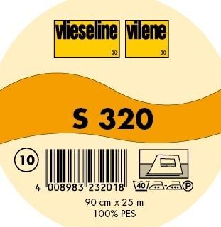 Vlieselin Bügeleinlage Typ S 320 Weiss-Transparent