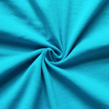 Baumwoll Stretch Jersey Türkis Blau
