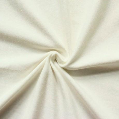 Baumwoll Stretch Jersey Creme-Weiss