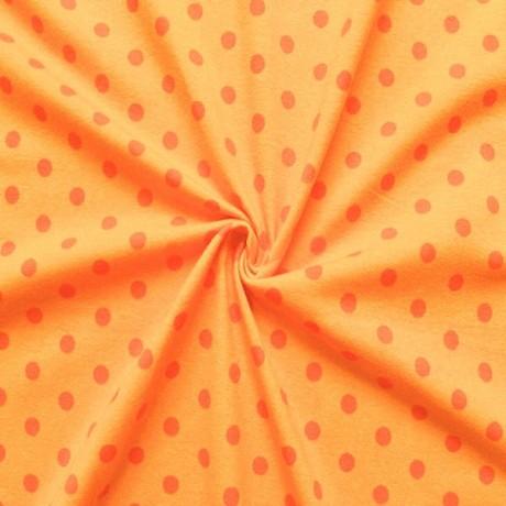 Baumwoll Stretch Jersey Punkte Gelb-Orange