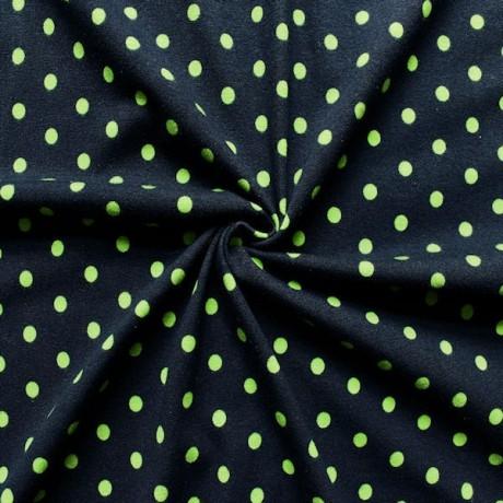 Baumwoll Stretch Jersey Punkte Blau Grün
